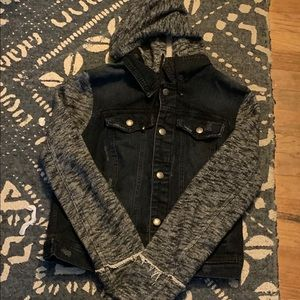 Free People Denim/Knit Jacket size Medium